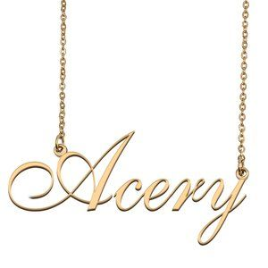 Custom Personalized Acery Name Necklace